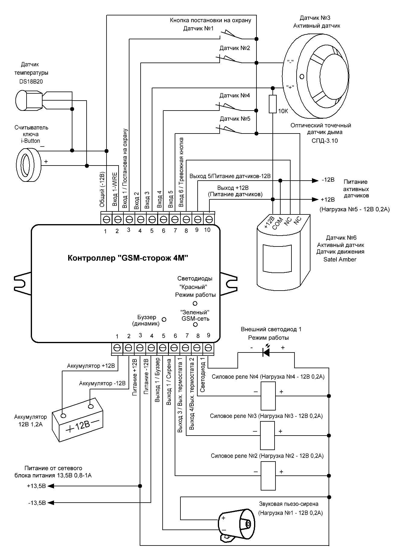 cocom 950 видиодомофон схема включения